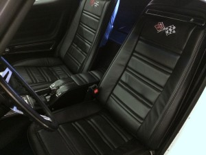 1973 Corvette Stingray leather seats and upholstery installed at Sound Investment in Columbus Ohio