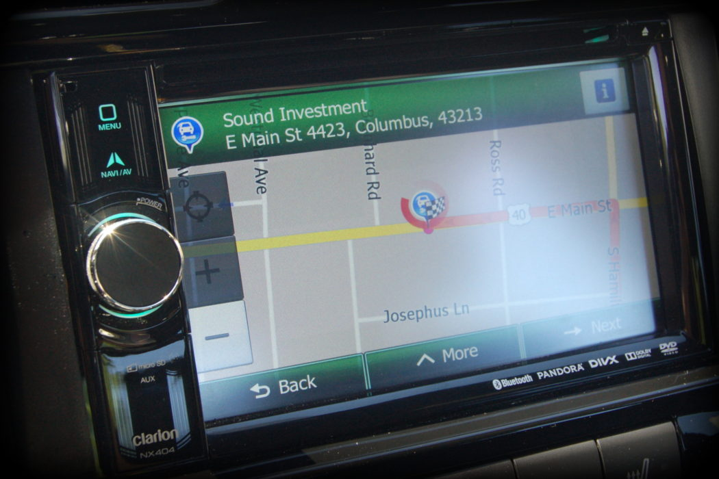 Clarion DVD navigation system installed by Sound Investment in Columbus Ohio