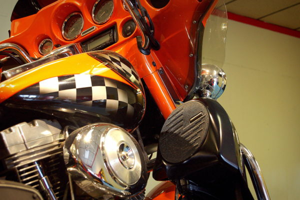 Harley Davidson Electra Glide Standard replacement audio system installed at Sound Investment in Columbus Ohio