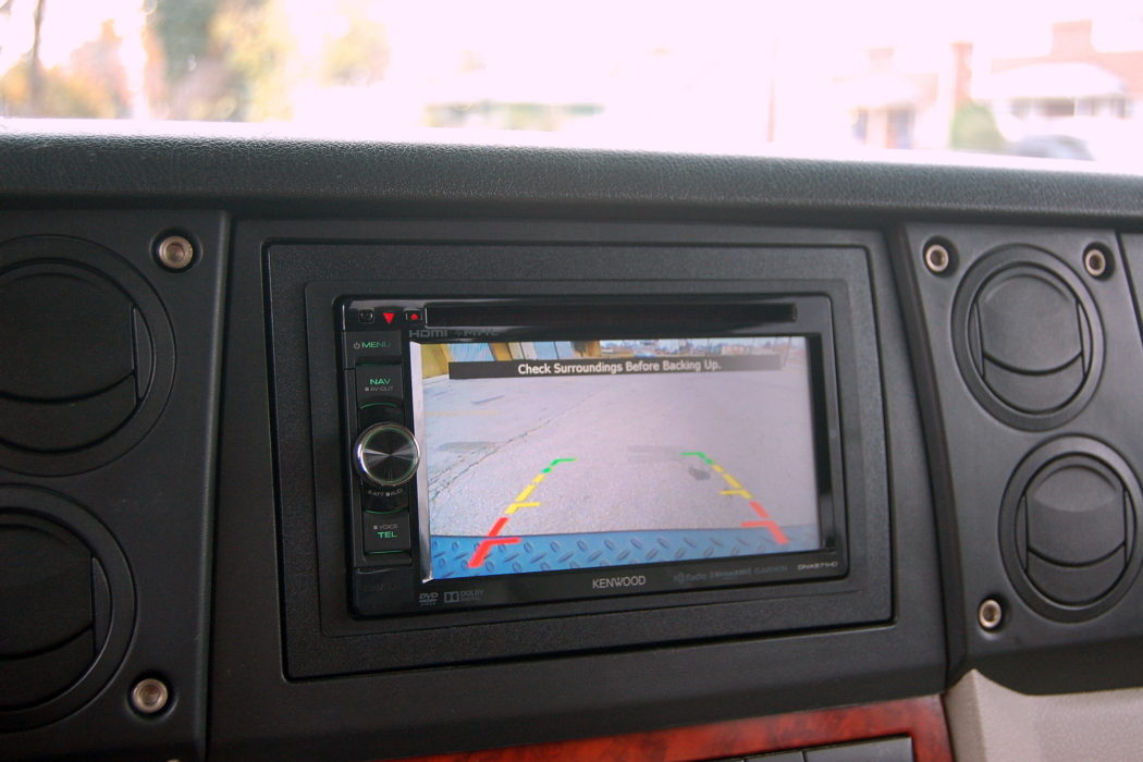 Backup Camera Monitor installed on Jeep Commander